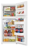 danby dff100c1wdb frost free refrigerator with top mount freezer 99 cubic feet white