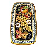 CERAMICHE D'ARTE PARRINI - Italian Ceramic Art Tray Plate Pottery Hand Painted Decorated Fruit Made in ITALY Tuscan