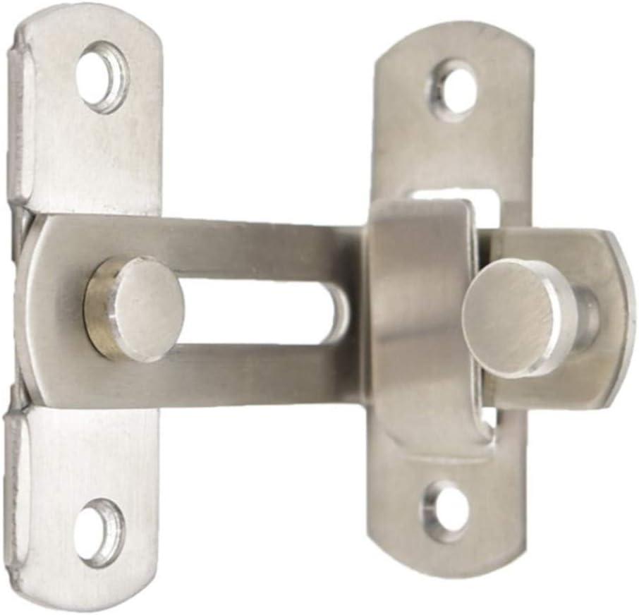 2 pouces Loquet de porte /à angle droit /à 90 degr/és avec vis pour portes de toilettes et fen/êtres