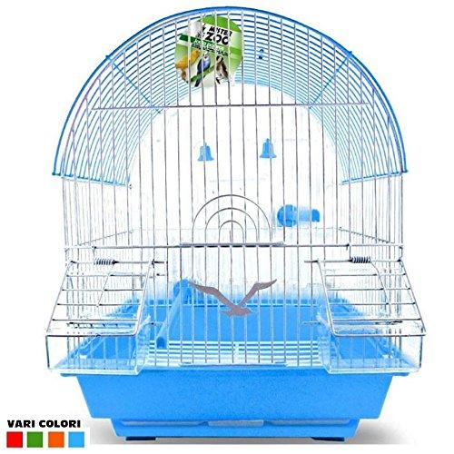 Jaula para Pájaros Canarios Periquitos forma cúpula con accesorios ...