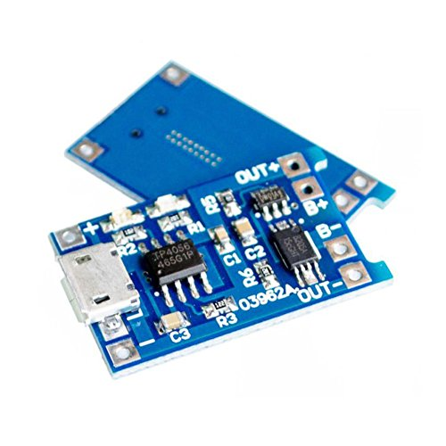 CHENBO 10 Pcs 5V Micro USB 1A 18650 TP4056 Lithium Battery Charging Board With Protection Charger Module