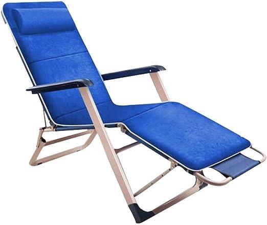 Mueble de jardín/Sillón reclinable for terraza Tumbonas Cero tumbonas Sillas reclinables de jardín Tumbonas con Almohadilla de algodón Sillón reclinable Plegable Ajustable for balcón Patio Múltiples: Amazon.es: Jardín
