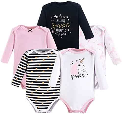 Hudson Baby 3 pk Long Sleeve Bodysuits