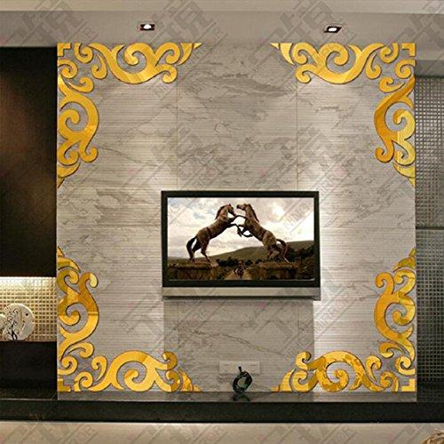 3D DIY Acrylic Mirror Round Pattern Wall Sticker Clock Home Decoration - 3