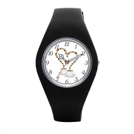 Redondo de silicona relojes para hombre metálico barato Relojes de pulsera.: Amazon.es: Relojes
