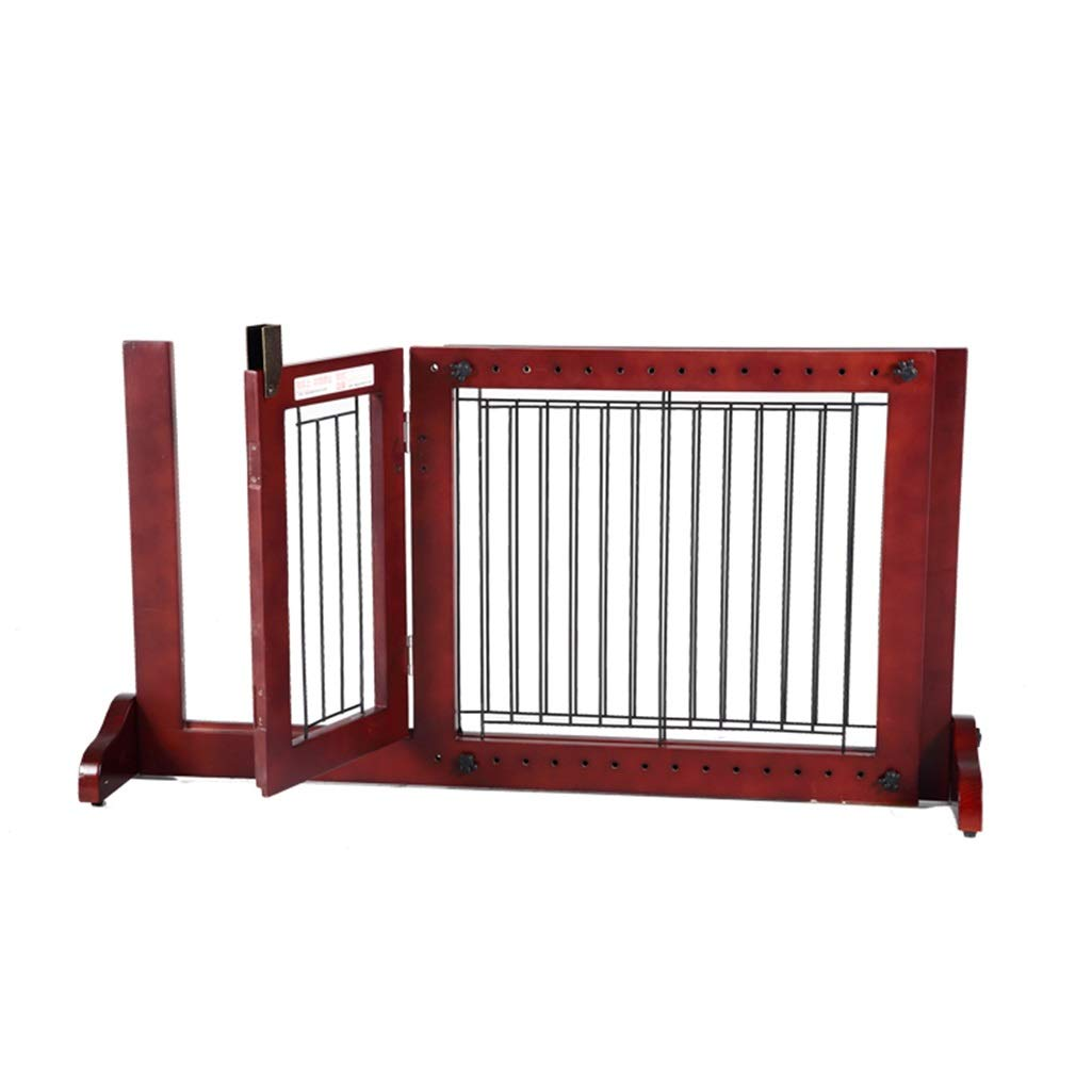 A(865-1170503mm) LLHYOO HULAN Wooden Pet Fence, Indoor Adjustable greenical Pet Fence Dog Fence Small Dog Isolation Fence Predective Door (Size   A(865-1170  503mm))