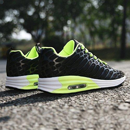 Zapatillas Negro de LFEU Unisex de Adulto Lona Running fxxpz6