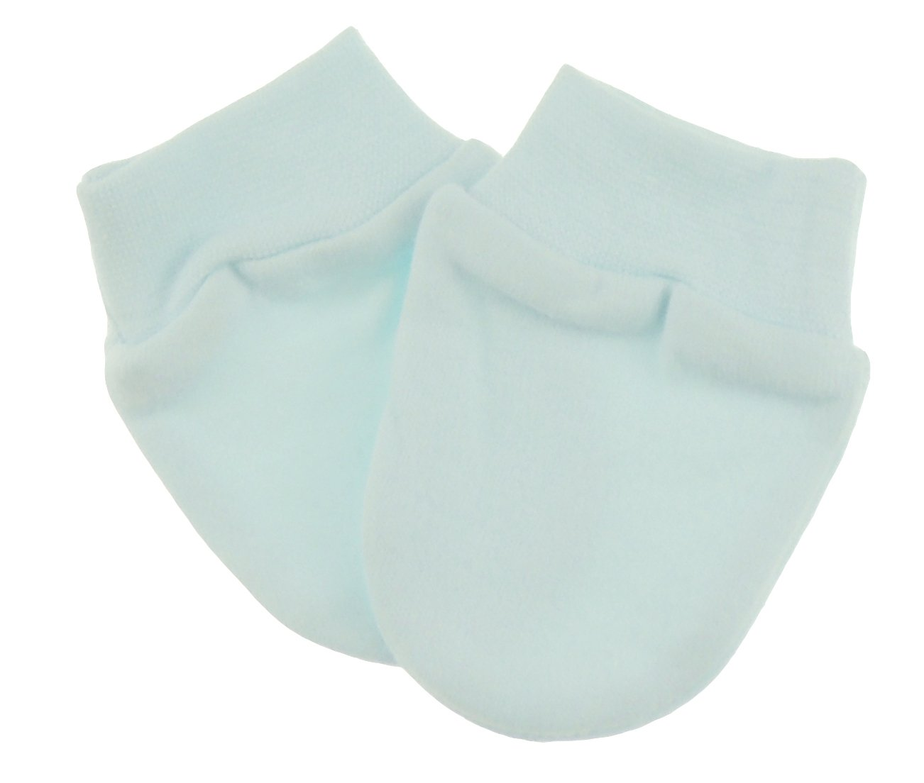 Baby Girls Boys 2 Pairs Cotton Scratch Mitts Mittens White