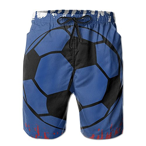 Game Life Shorts Russian Flag Football Mens Tree Quick Dry Swim Trunks Beach Shorts with Mesh Lining