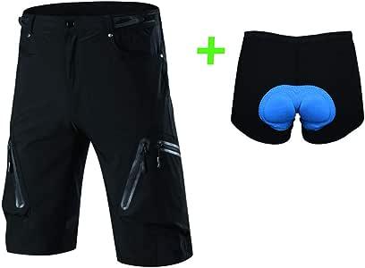 Capplue Hombres Cómodo Pantalones Cortos de Ciclismo MTB Al Aire ...