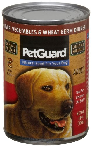 Pet Guard Liver, Vegetables & Wheat Germ Food for Dogs, 14-Ounce Cans (Pack of 12)
