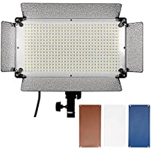 Neewer 500 LED Photo Studio Lighting Panel, Diffuser, 2 Color Filters(Orange and Blue) and 4 Dimmer Switch for Canon Nikon Pentax Panasonic Sony Samsung Olympus and Other Digital DSLR Cameras