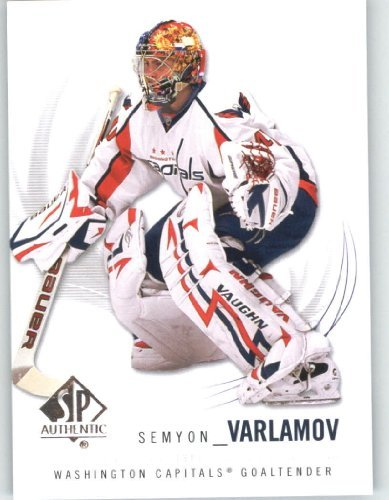 2009-10 (2010) Upper Deck SP Authentic Hockey Card # 98 Semyon Varlamov - Capitals - NHL Trading Card