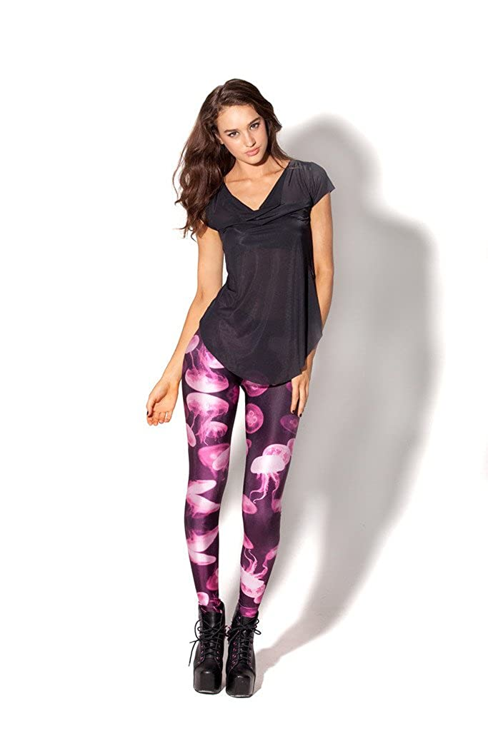 Happy Cool Womens Floral Printed Footless Elastic Tights Legging