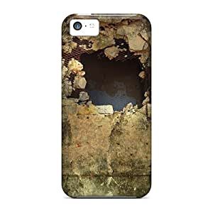 Protective Case With Fashion Design For Iphone 5c (hole In The Wall)
