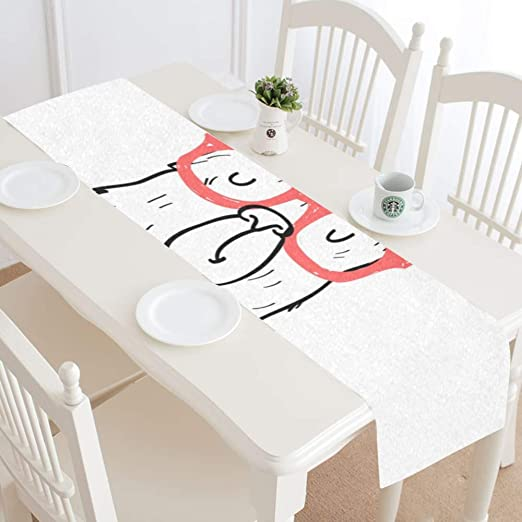 dining table decor ideas.htm amazon com coffee bar table runner hand drawing lama dining table  coffee bar table runner hand drawing