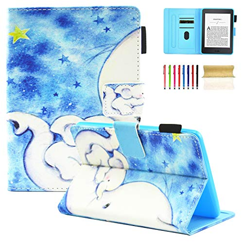 Casii All-New Kindle Paperwhite Case (Fits All 2012, 2013, 2015, 2016 Versions),Premium Ultra Lightweight Flip Folio Smart Cover Case with Auto Sleep/Wake for Kindle Paperwhite,Cute Little Elephant