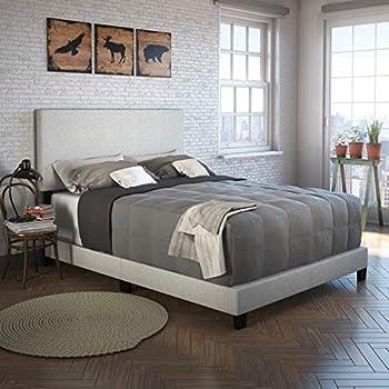 6bc6816a16f84 Boyd Sleep Montana Upholstered Platform Bed Frame with Headboard  Linen