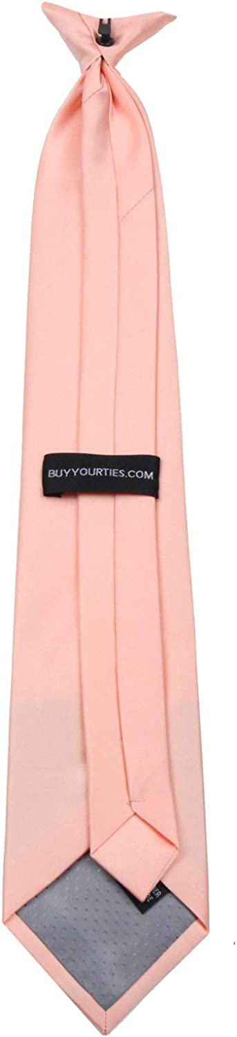 Mens Solid Color Clip On Easy to Remove Clip Necktie Ties