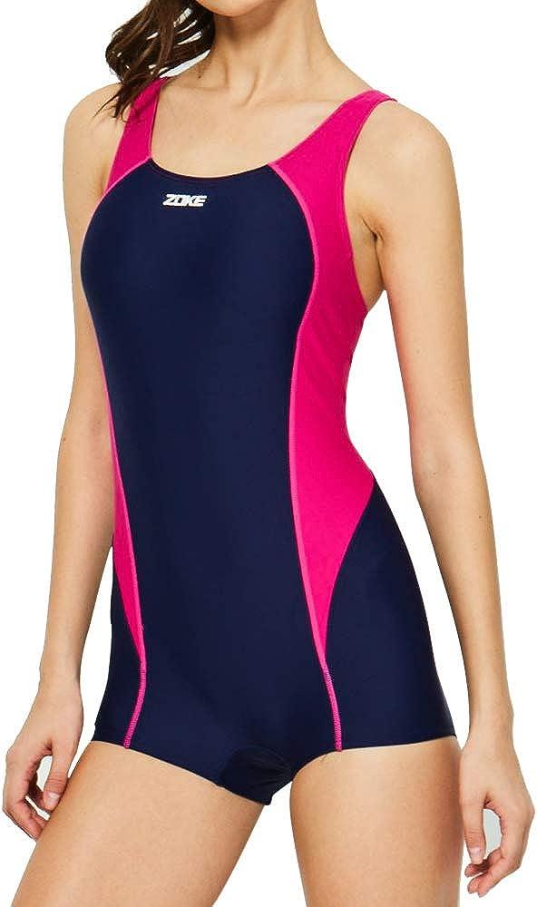 Karrack Women's Boyleg One Piece Swimwear Sleeveless Swimming Suit Swimsuit Sport Pro Bathing Suit
