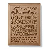 Kate Posh - Our 5th Anniversary Wooden Plaque - Best Reviews Guide