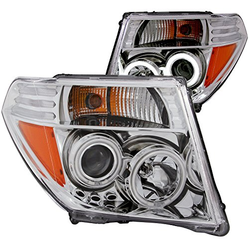 Anzo USA 111112 Nissan Chrome Clear Projector with Halos Headlight Assembly - (Sold in Pairs) ()