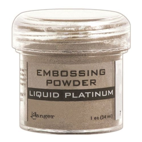 Ranger Embossing Powder, 1-Ounce Jar, Liquid Platinum by Ranger