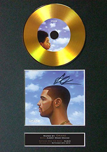 #161 Gold CD Drake Nothing was The Same Signed Autograph CD & Cover Reproduction Print A4 Rare Perfect Birthday (297 x 210mm) (Not Framed)