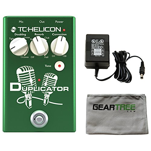 TC Helicon 996372001 DUPLICATOR Vocal Effects Pedal w/ Polish Cloth and Power Supply