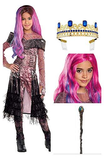 Descandants 3 Audrey Deluxe Costume Size M 8/10, Wig, Disney Crown and ()