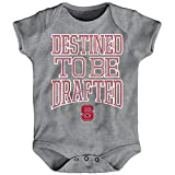 "NCAA by Outerstuff NCAA North Carolina State Wolfpack Newborn & Infant ""Destined"" Short Sleeve Bodysuit, Heather Grey, 18 Months"