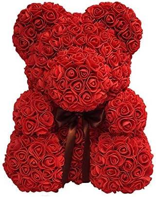 Ours Rose Eternelle Nounours En Rose Ours En Rose Eternelle Ours Rose Fleur Pour Maman Femmes Ses Ourson En Rose Eternelle Cadeaux Main Rose Fleurs Saint Valentin Cadeaux-Ours Rose Avec Bo/îte violet