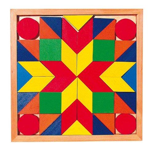 Mosaik-Legespiel mit 44 Mosaiksteinen