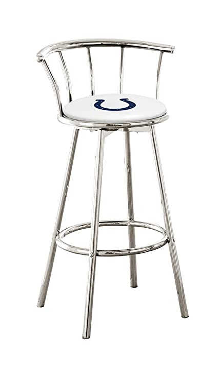 The Furniture Cove 1 24u0026quot; Chrome Finish Counter Height Custom Specialty  Swivel Seat Bar