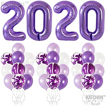 Amazon.com: Purple 2020 Balloons Decorations Sets - Purple ...