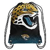 Forever Collectibles NFL Unisex Gradient Drawstring Backpackgradient Drawstring Backpack, Jacksonville Jaguars, Standard