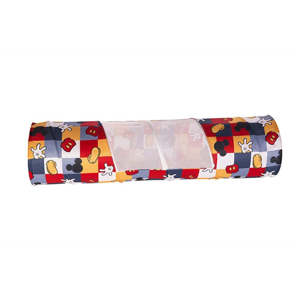 ポップアッププレイトンネル 子供用 猫 犬 冒険 発見 おもちゃ チューブ クロール トンネル 屋内 屋外用 (48180CM)   B07KXCXSTT