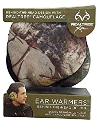 Real Tree Camouflage Ear Warmers Behind The Head Design
