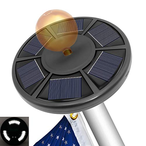 Bathonly Solar Flag Pole Light,Flag Light for 15 to 25 Ft Top Auto On/Off Night Lighting Outdoor LED Light