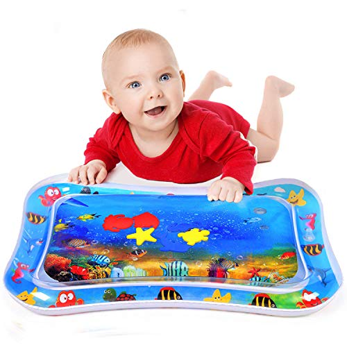 RayCue Inflatable Water Mat Durable for Infants & Toddlers Tummy Time, Baby Water Play Mat for Fun, Great for Babys Stimulation Growth