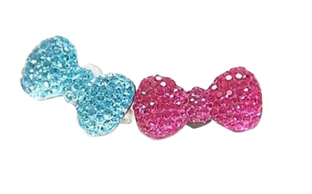 5 PCS niños joyería Rhinestone ajustable niños de los anillos fingen estilo de juguete al azar
