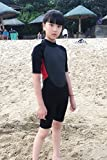 Realon Kids Wetsuit Shorty Full 3mm Premium Neoprene Lycra Swimsuit Toddler Baby Children and Girls Boys Youth Swim Surfing Snorkel Dive Snorkel XSPAN Back Zip Suit