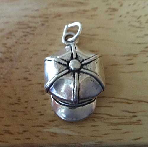 Sterling Silver 22x15mm Baker Boy Gatsby Newsboy Derby Hat with Bill Charm Jewelry Making Supply, Pendant, Sterling Charm, Bracelet, Beads, DIY Crafting and Other by Wholesale Charms -