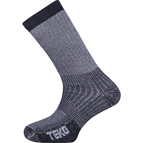 Teko Mens Merino Wool Hiking Socks Medium Cushion Charcoal (Small)