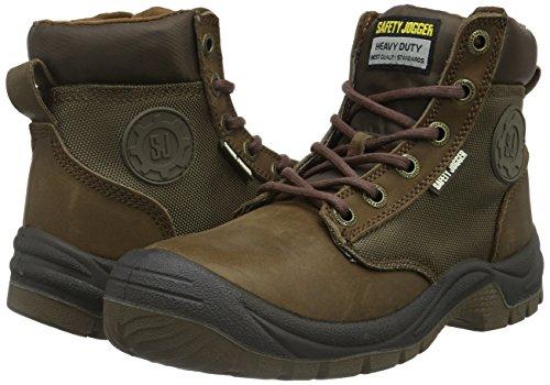 Safety Jogger DAKAR, Unisex-adult safety shoes, brown (019), 44 EU (10 adult UK)