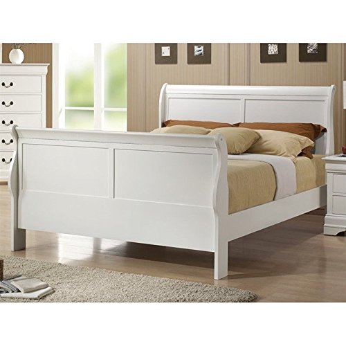 Coaster Louis Philippe Full Sleigh Bed in White - Full Sleigh Bed