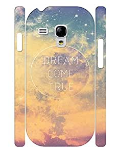 Fashionable Series Cell Phone Case With Galaxy Quotes Design Solid Case Cover for Samsung Galaxy S3 Mini I8200