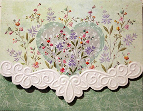 (Carol Wilson Floral Heart 10 ct Embossed Note Card Set For Arts)