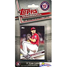 Washington Nationals 2017 Topps Baseball EXCLUSIVE Special Limited Edition 17 Card Complete Team Set with Max Scherzer, Bryce Harper & Many More Stars & Rookies! Shipped in Bubble Mailer! WOWZZER!