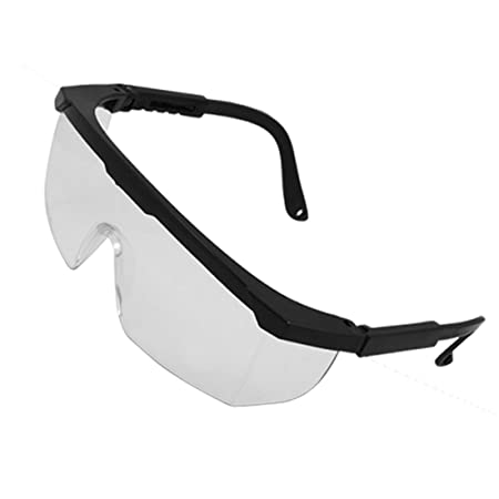 9657bff57e7 Clear Wide Lens Plastic Black Frame Windproof Goggles  Amazon.co.uk  DIY    Tools